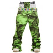 Брюки STL P6 Techno Board Pants (Neon Lime Pixel)