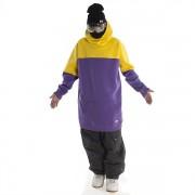 Толстовка удлиненная  NM4 ninja (yellow-purple)