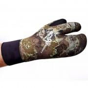 Перчатки 3-х палые Aquadiscovery green camo 9мм