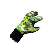 Перчатки неопреновые Aquadiscovery 3-х палые 5мм camo 3д