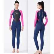 Гидрокостюм женский Dive&Sail dark blue/pink 3мм