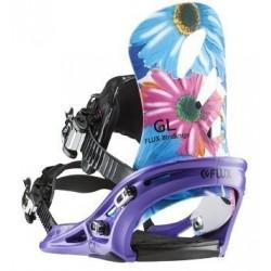женские Крепления для сноуборда Flux GL Floral FW15