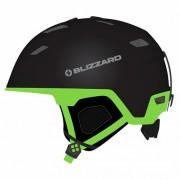 Шлем Blizzard S19 Double ski , black matt/neon green