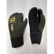 Перчатки Aquadiscovery 3 палые Blk/Green 7мм откр. пора