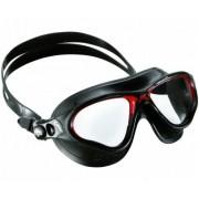 Очки для плавания Cressi Cobra чер. силикон/ прозрач. линзы
